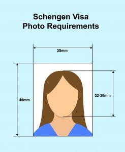 متطلبات الصور الشخصية اللازمة لتأشيرة شنغن
