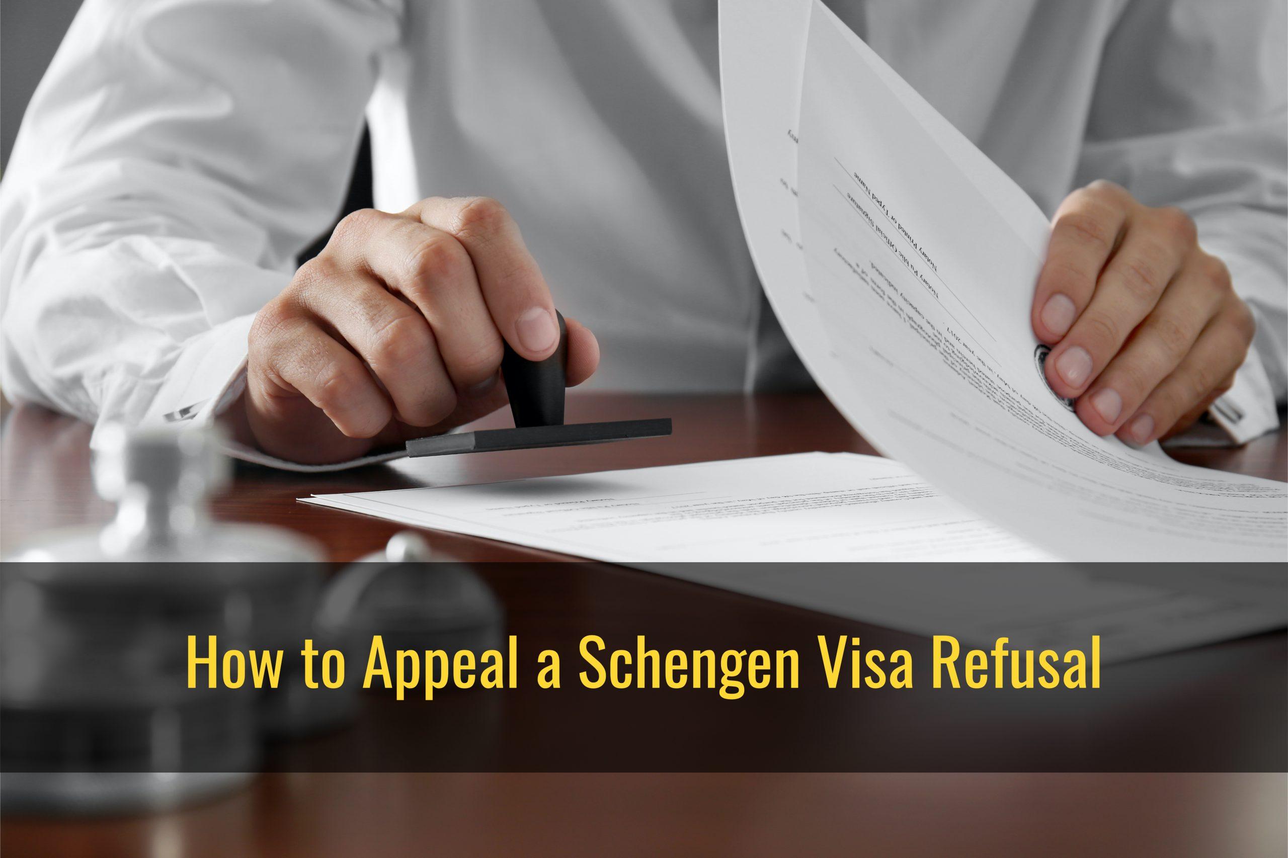 How to appeal a Schengen visa refusal